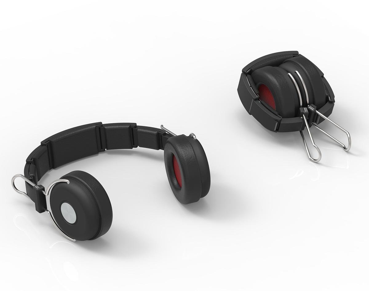 Armadillo Headphones folded and unfolded