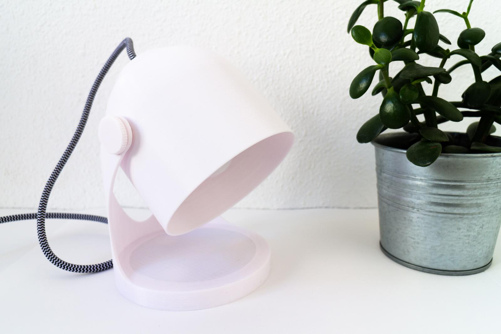 3D printed lamp off