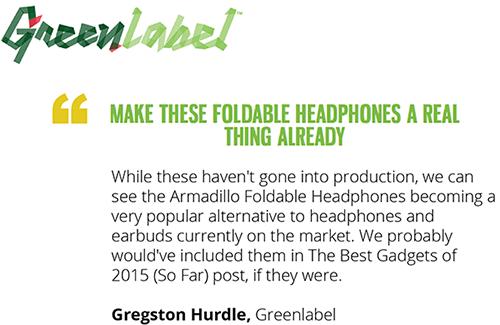Armadillo Headphones Press