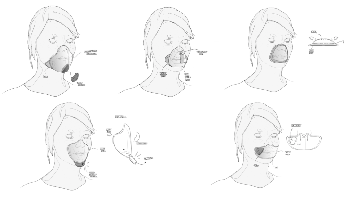 Facemask sketches