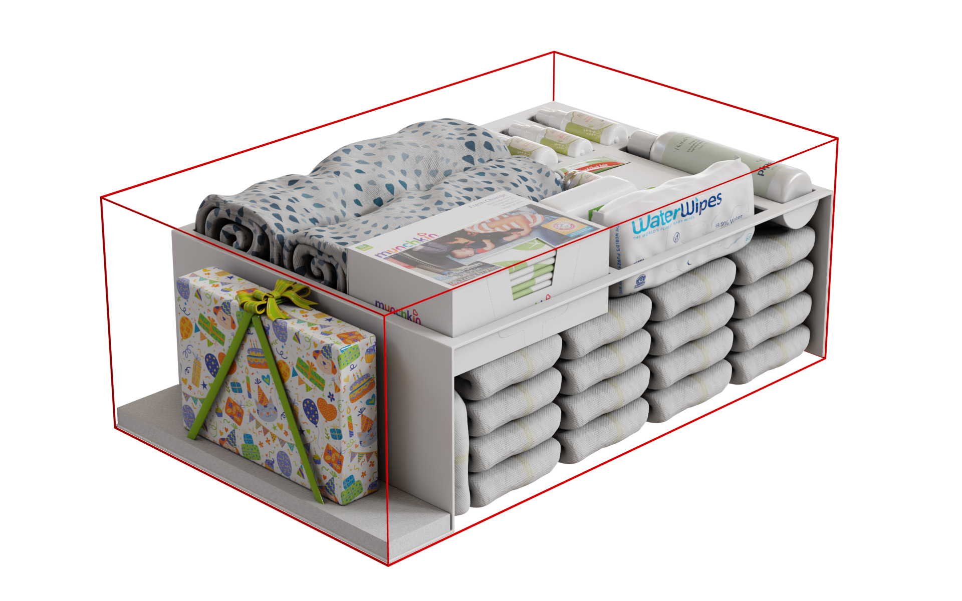 Packaging rendering inside